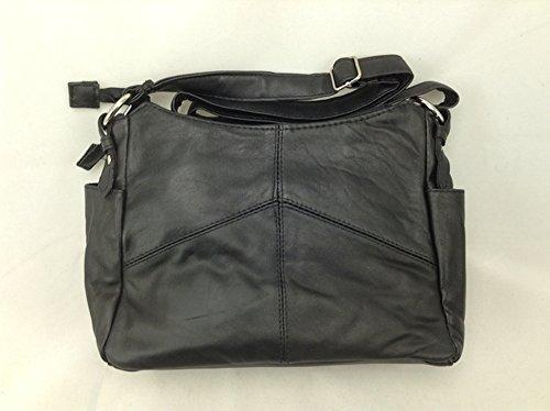 Botschaft echtes Lammfell Leder Geldbörse ~ schwarz durch Botschaft - Coach Designer-handtasche