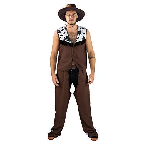 Bodysocks® Cowboy-Kostüm für Herren (Large) (Wild West Kostüm Weiblich)