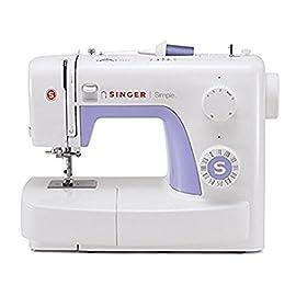 Singer Simple 3232 - Macchina da cucire, 32 operazioni di cucito per qualsiasi tessuto: basic, elasticizzato, decorativo…