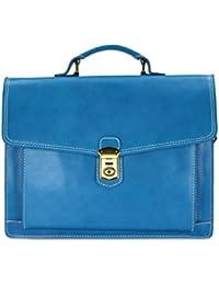 """Belli """"Design Bag D XXL ital. Leder Handtasche Business Bag Aktentasche Lehrertasche - Farbauswahl - 40x30x12 cm (B x H x T)"""
