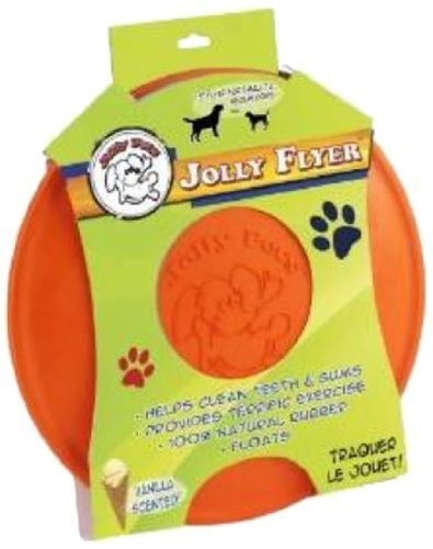 Jolly Pets 7-1/2-Inch Jolly Flyer Rubber Floating Disc, Orange by Jolly Pet -