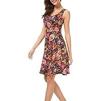 TAIDUJUEDINGYIQIE Chaleco Estampado Vestido de Primavera y Verano Vestido de Playa Estilo Eslinga Sexy, Color 6, XL
