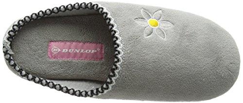 Dunlop Gwen, Damen Flache Hausschuhe,, Grau