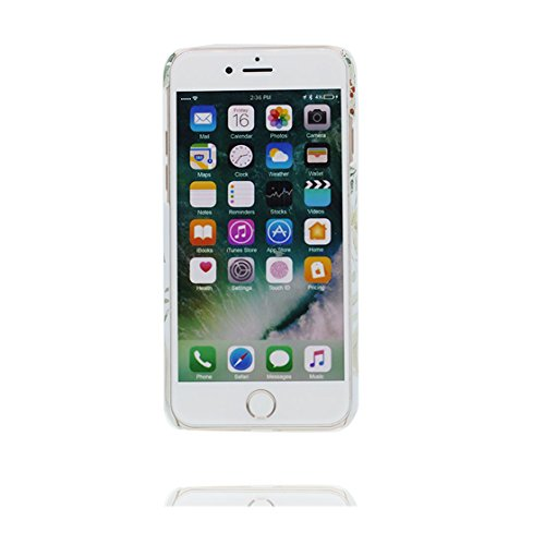 Custodia iPhone 6s, Liscio Marmo - Cover Case iPhone 6/ 6S Copertura, TPU flessibile slittamento di polvere resistente ai graffi Original # 2