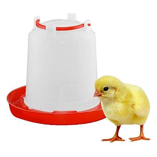 Lunji Bebedero para de plástico, 1.5l–Pozo, para aves Pollito y gallinas