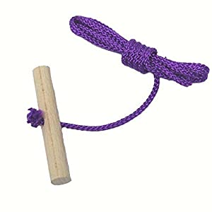 Looping-Lu Schlittenseil mit Holzgriff aus Buchenholz 1 Zugseil (Lila)