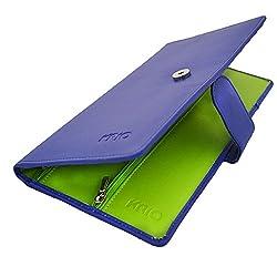 KRIO Designs NAVY BLUE Travel Passport Holder Wallet with Clip