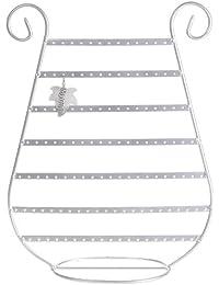 Tablero de la mesa joyas pendientes pantalla soporte Rack soporte plata Metal Arpa