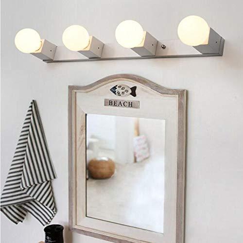 LZY Mode Kreativität Badewanne Badezimmerspiegel Spiegelleuchte Beleuchtung - Feuer vor Wasserdichtheit Geführt zum Test der Luftfeuchtigkeit der Nebelwandleuchte Warmlicht-Scheinwerferspiegel (3) Tü