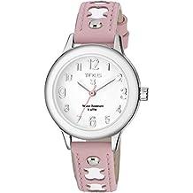 Reloj TOUS Dolce de acero con correa de piel rosa Ref:700350025, Niña
