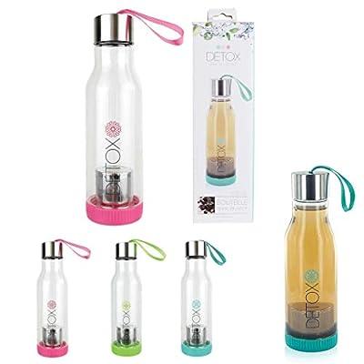 Bouteille infuseur detox - Lot de 2 - sans BPA - 500ml - pour toutes vos infusions