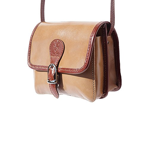 Tracolla In Pelle Da Donna 225 Denkel Taupe-brown