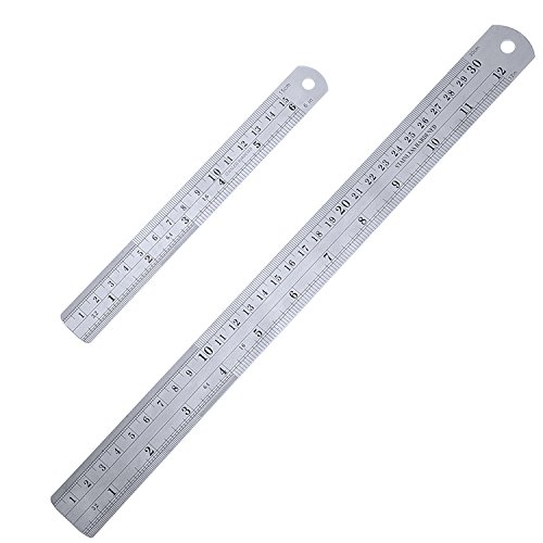 outus-stainless-steel-ruler-kit-metal-ruler-with-conversion-table-12-inch-and-6-inch