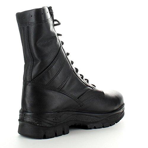 Highlander–Classica da uomo militari in pelle con lacci stivali invernali, da Passeggio Black