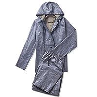 CAI&HONG-Umbrella CCC Raincoat split suit acid and alkali rubber canvas, A