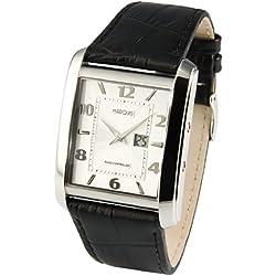Junghans-Uhrwerk 964.4714 Radio Wristwatch in Leather