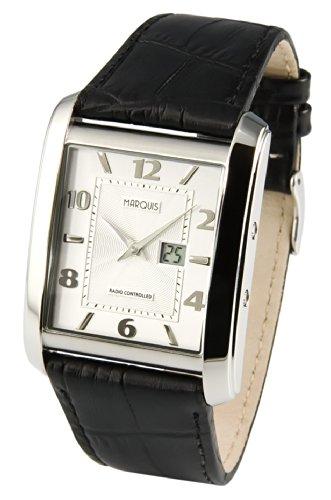 Funk Armbanduhr Junghans-Uhrwerk Funkuhr Armbanduhr Leder 964.4714