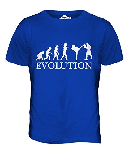 CandyMix Arti Marziali Miste Mma Evoluzione Umana T-Shirt da Uomo Maglietta Blu Royal