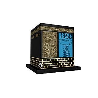 MIRAC AC-2028B Kaaba Azan Uhr-Kabe Ezan Saati, ABS, Schwarz/Gold, 17