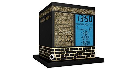 MIRAC AC-2028B Kaaba Azan Uhr-Kabe Ezan Saati, ABS, Schwarz/Gold 17