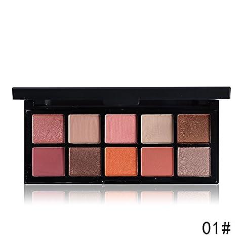 Professional 10 Warm Colors Matte Eyeshadow Palette Nautral Mineral Nude Eye Shadow Contour Palette New Makeup Pallet,3.5oz (1)