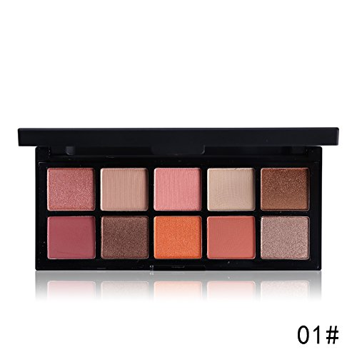 Professional 10 Warm Colors Matte Eyeshadow Palette Nautral Mineral Nude Eye Shadow Contour Palette New Makeup Pallet,3.5oz (1)