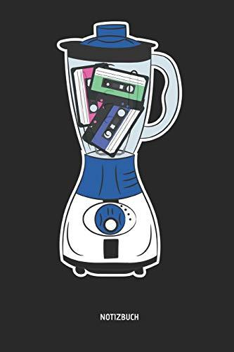 Notizbuch: Liniertes Kassetten Notizbuch. Mixer Mixtape. Tolle Geschenk Idee für Kassetten, retro, Nostalgie, 80s und 90s Fans und alle die Musik lieben.