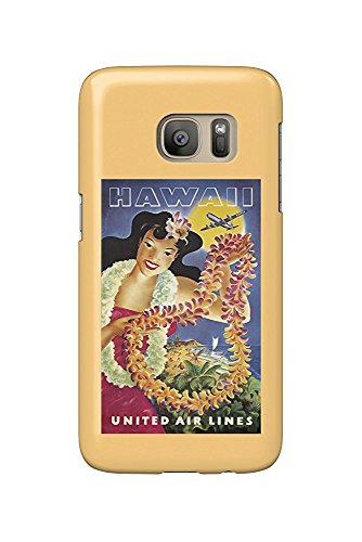 Hawaii United Airlines (United Airlines - Hawaii (artist: Feher) USA c. 1950 - Vintage Poster (Galaxy S7 Cell Phone Case, Slim Barely There))