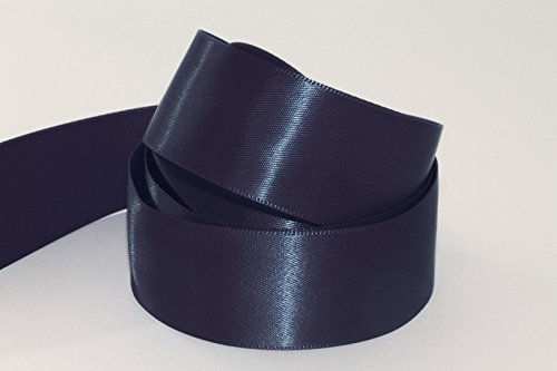Doppelseitiges Luxus-Satinband - 20-m-Rolle, Navy Blue ( Col 680 ), 10 mm