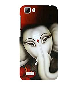 Fuson Designer Phone Back Case Cover Vivo V1 ( Lord Ganesha With Calm Face )