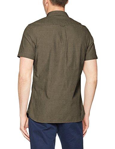 Burton Menswear London Dobby, Camicie da Abitp Uomo Green (Khaki)