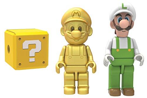 K 'NEX Gold, Mario Fire Luigi und Mystery Figur Set (Bros Mario Knex Super 2)