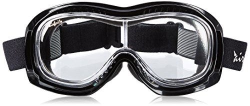 Pacific Coast Airfoil Padded 'Fit Over Glasses' Riding Goggles (Black Frame/Clear Lens)