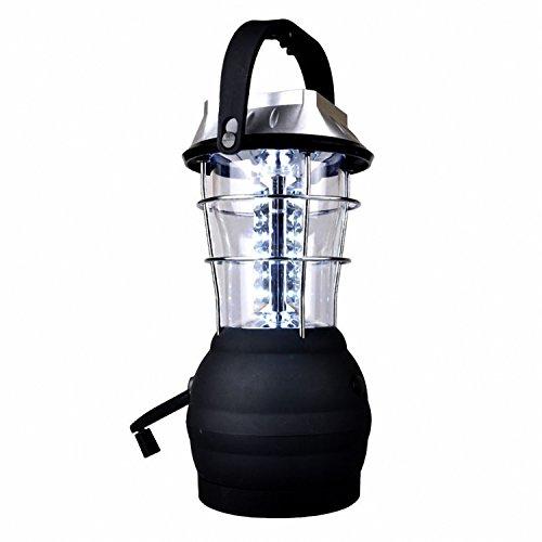 SODIAL Lanterne Solaire 5 Modes de Dynamo a Manivelle Lanterne de Camping Rechargeable a 36 LED Lumiere d