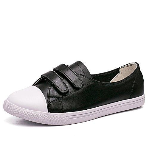 escoge los zapatos/ plat rond tête chaussure Joker blanc/Magic summer loisirs chaussures asakuchi C