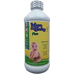Mom & Baby Prenatal Multi-Vitamin Liquid Supplement- 800mcg Folate, Non-Constipating Iron- Certified Organic Whole-Food Blend- Best for Pre-Conception, IVF, Pregnancy & Postnatal- Vegetarian- Non GMO