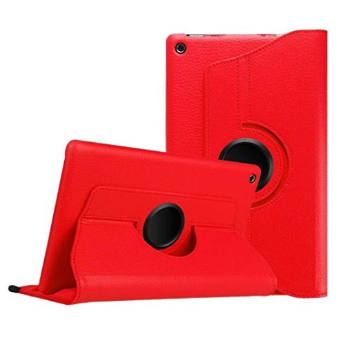 Pour 2015 Amazon Kindle Fire HD, Malloom Housse en cuir Shell 8 pouces Tablet (Pour 2015 Amazon Kindle Fire HD, Rouge)