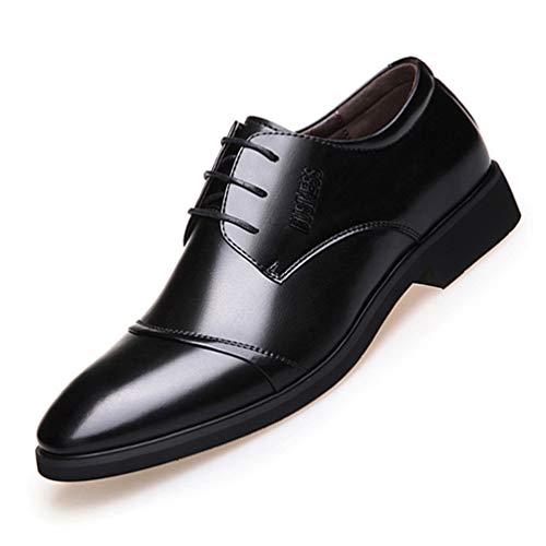 XI-GUA Herren Leder Schuhe Business Anzug Herren Freizeitschuhe mit flachen Oxford Schuhen