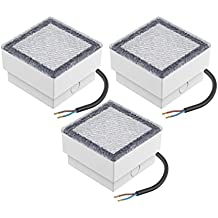 parlat LED Einbaustein Wegbeleuchtung CUS, 10x10cm, 230V, warm-weiß, 3 Stk.