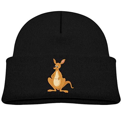 OJNGE8VERVD Boys Knitted Hat Australian Kangaroo Winter Warm Skull Caps for Children Soft Girls Bun Beanie