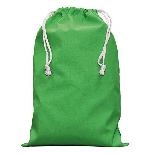 Textildruck Plauen Stoffbeutel 15x20cm Kleidersacke Wäschesack Zuziehbeutel mit Kordelzug Viele Farben (Grün, 5)