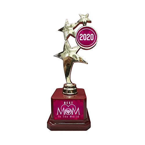 Yaya Cafe Mother Birthday Hearts Best Mom in The World Mom Trophy - Star