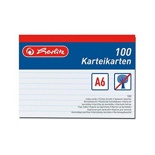 herlitz-1150507-scheda-per-indice-a5-100-pezzi-bianco-bianco-a6