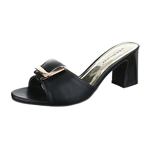Pantoletten Damen Schuhe Jazz & Modern Pump Moderne Ital-Design Sandalen / Sandaletten Schwarz