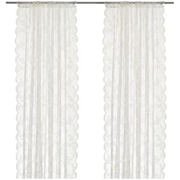 scheibengardinen ikea alvine spets curtain set 2 white kunstfaser weia 300 x 145 cm kuche