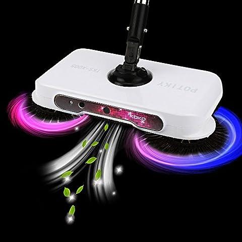 Igemy Spin Main Push Balai Sweeper poussière domestique Collector Sol Surface de nettoyage Balai à franges