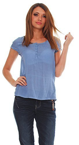 M.O.D–Camicia da donna–Maglietta BL080 Blau