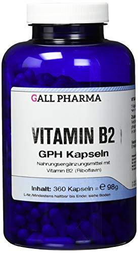 Gall Pharma Vitamin B2 GPH Kapseln, 360 Stück, 1er Pack (1 x 360 Stück)