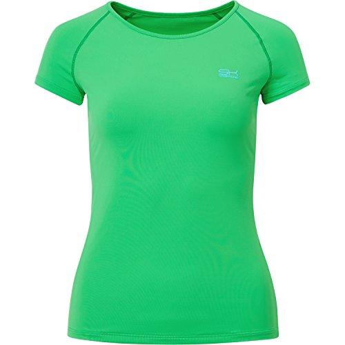 Sportkind Mädchen & Damen Tennis/Fitness/Sport T-Shirt, grün, Gr. L