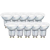 Osram Lampada LED con Riflettore GU10, 6.9 W, 5.5 x 5.1 x 5.1 cm, 10 Unità